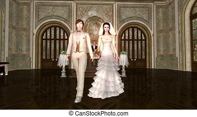 Bridal couple - image of bridal couple