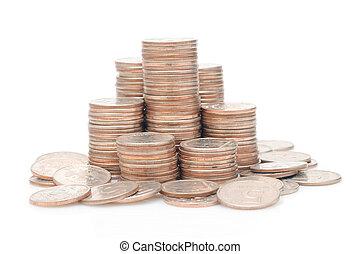 Money isolated over white