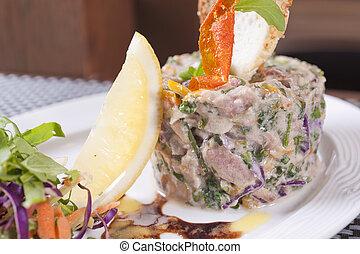 Tuna tartare appetizer - A la carte tuna tartare appetizer...