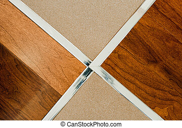 Wooden floor and tile - Floor and tile detail