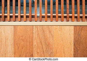 Heating on the floor - Wooden floor and register