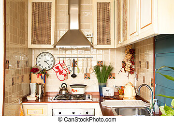 Country style kitchen - country style kitchen in apartment