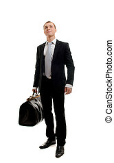 Handsome man with traveling bag - Handsome man with...