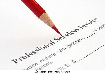 profesional, servicio, factura