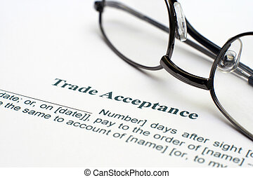 Trade acceptance form