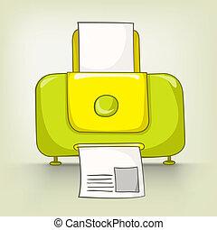 Cartoons Home Appliences Printer