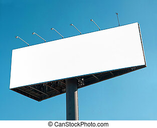 Billboard - Blank billboard over blue sky