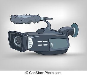 Cartoons Home Appliences Video Camera - Cartoon Home...