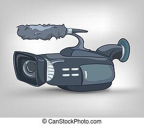 Cartoons Home Appliences Video Camera - Cartoon Home...