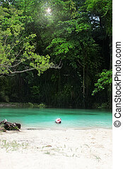 Secluded cove - Secluded tropical paradise with white sands...