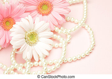 gerbera and pearl - I took gerbera and pearl in a pink...