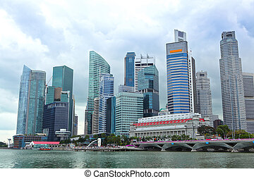 Skyline of Singapore business district