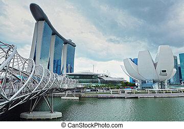 harbor in Singapore