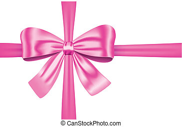 Pink gift ribbon with bow - Nice pink ribbon with bow for...
