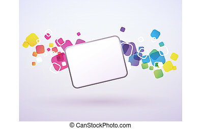 Abstract background of the square