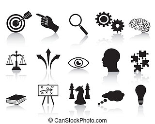 strategy concepts icons set - isolated strategy concepts...