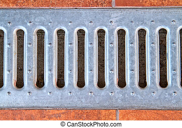 lattice of the storm water drain - Background from a lattice...