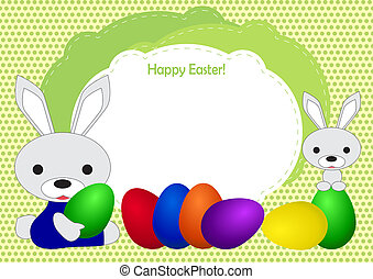 greeting card with a happy Easter