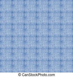 Seamless Light Denim Patchwork - Topstitched light blue...