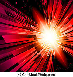 Red Radiance - Beautiful Abstract Backdrop Effect of Red...