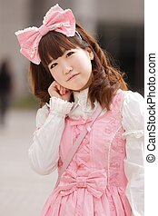 japanese lolita - portrait of japanese sweet lolita cosplay