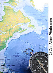 Compass - compass on world map