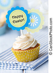 Easter cupcake - Cupcake decorated with Easter cake-picks