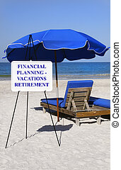 Financial Planning - A sign about financial planning in...