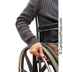 wheelchair man - closeup of a man in a wheelchair