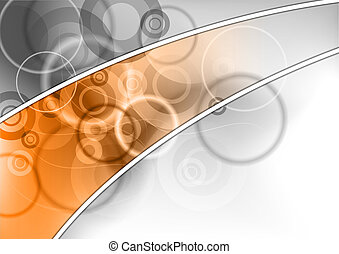 abstract background with the orange strip