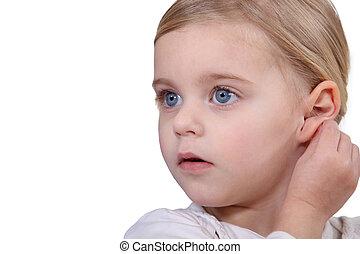 delightful blue-eyed little girl