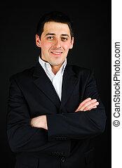 Portrait - portrait of a young man in suit