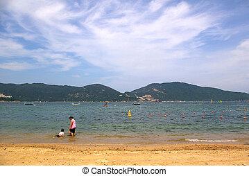 Beach in Hong Kong at day