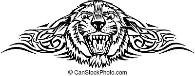 tiger with patterns