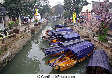 Tongli water village in China during spring