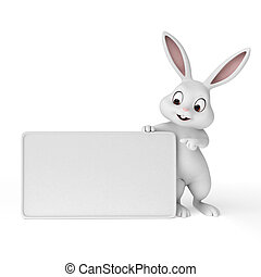 Happy easter - 3d rendered illustration of a cute easter...