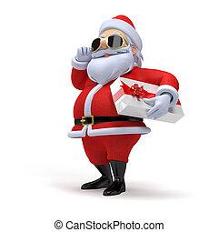 Little santa  - 3d rendered illustration of a little santa