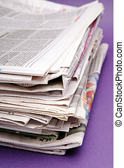 Newspapers - Stack of newspapers