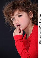 Portrait of an inquisitive child