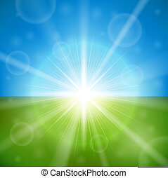 Bright summer sun vector background