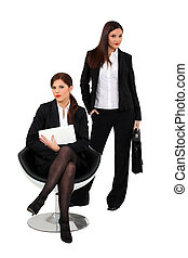 Assertive businesswomen