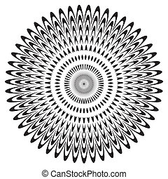 Black and White Circle Design Pattern - Black on white...
