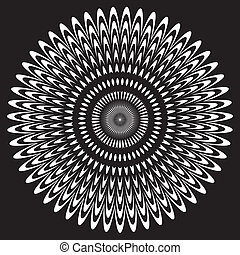 Black and White Circle Design Pattern - White on black...