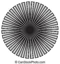 Black & White Circle Design Pattern - Black on white circle...