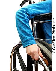 wheelchair kid - closeup of a kid in a wheel chair