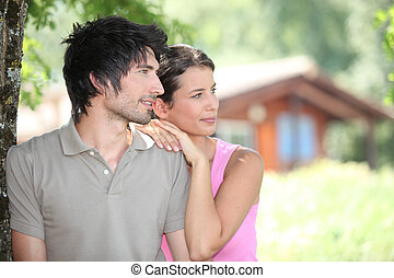 Couple in holiday home