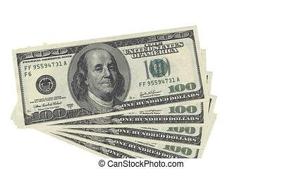 Animated CGI 100 USD bancnotes