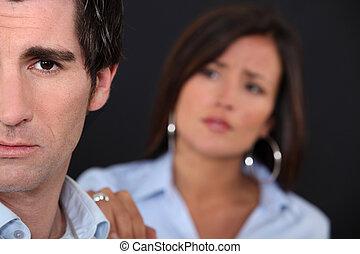 couple, avoir, désaccord