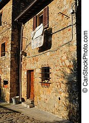 Typical tuscan stone house