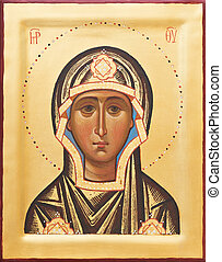 Religious Orthodox icon of The God mother - Orthodox...
